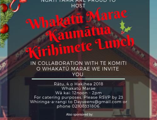 Whakatū Marae Kaumātua Kirihimete Lunch 2018