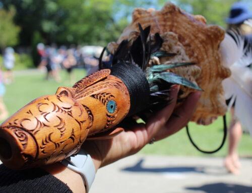 MEDIA RELEASE: Ngāti Tama present taonga to inaugural winners of the Best Whakangahau category at Te Huinga Whetū Festival 2020