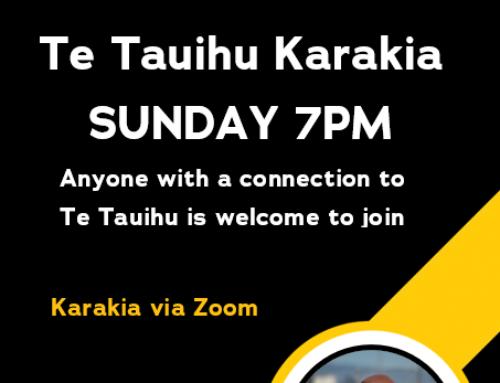 TE TAUIHU KARAKIA THIS SUNDAY NIGHT