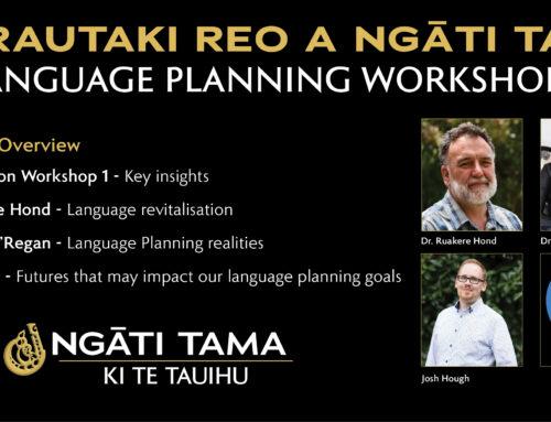Ngāti Tama Language Planning Workshop 2