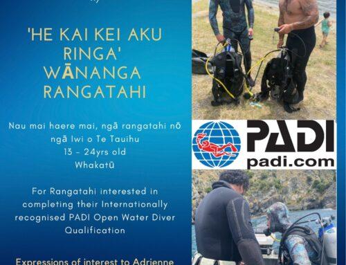 He kai kei aku ringa wānanga rangatahi invitation October 2021